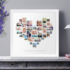 Personalised Heart Photo Collage